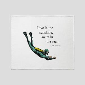 Sea Scuba Diver Throw Blanket