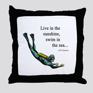 Sea Scuba Diver Throw Pillow