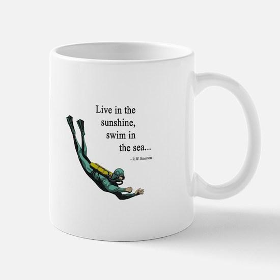 Sea Scuba Diver Mug