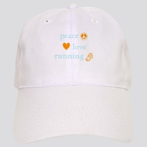 Peace, Love and Running Cap