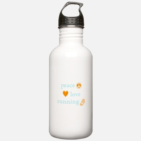 Peace, Love and Running Water Bottle