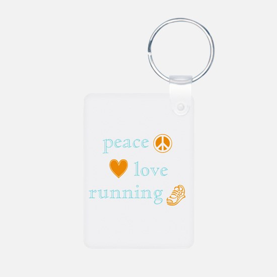 Peace, Love and Running Keychains