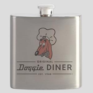 Doggie Diner restaurant logo Flask