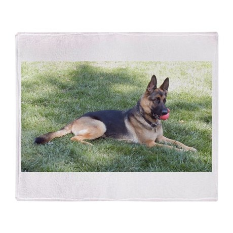 German Shepherd Lying Design Throw Blanket