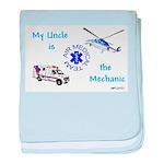 Mechanic Uncle baby blanket