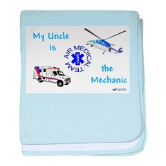 Mechanic Uncle baby blanket