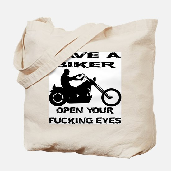 Save A Biker Tote Bag