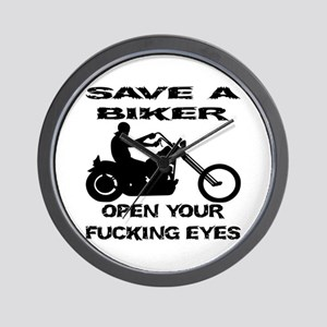 Save A Biker Wall Clock