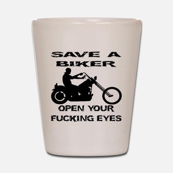 Save A Biker Shot Glass