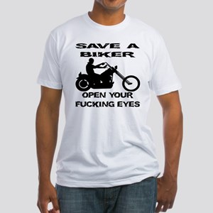 Save A Biker Fitted T-Shirt