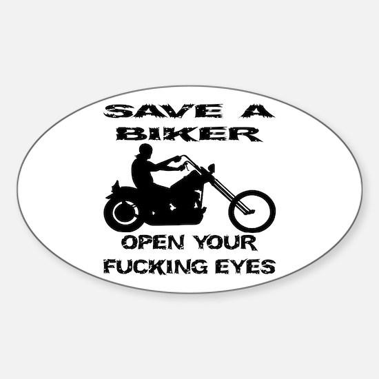 Save A Biker Sticker (Oval)