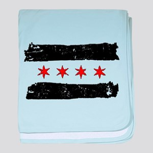 Flag of Chicago Made baby blanket