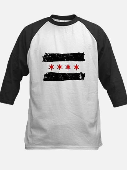 Flag of Chicago Made Kids Baseball Jersey