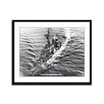 USS MANSFIELD Framed Panel Print