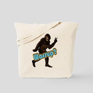 Bigfoot Yeti Sasquatch Wassup Tote Bag