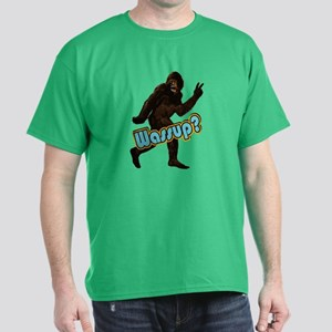 Bigfoot Yeti Sasquatch Wassup Dark T-Shirt