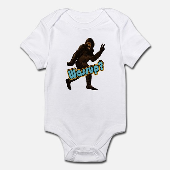 Bigfoot Yeti Sasquatch Wassup Infant Bodysuit
