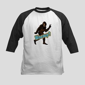 Bigfoot Yeti Sasquatch Wassup Kids Baseball Jersey