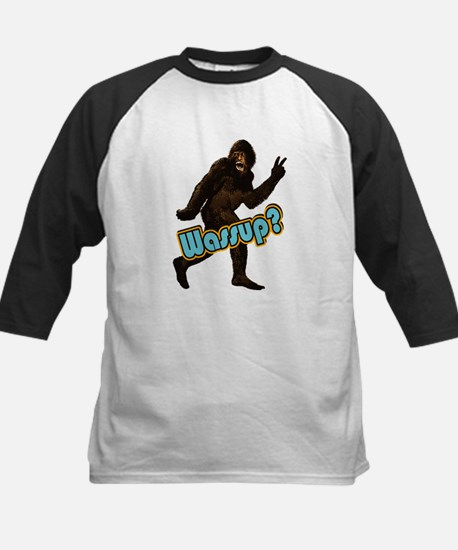 Bigfoot Yeti Sasquatch Wassup Kids Baseball Jersey