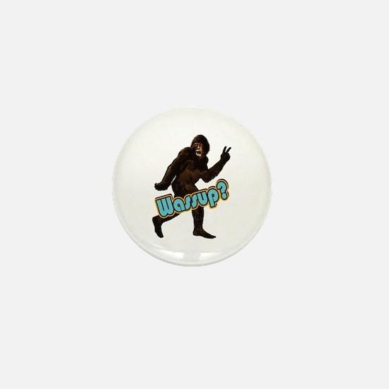 Bigfoot Yeti Sasquatch Wassup Mini Button
