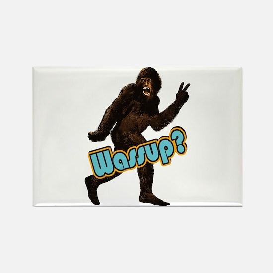 Bigfoot Yeti Sasquatch Wassup Rectangle Magnet