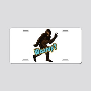 Bigfoot Yeti Sasquatch Wassup Aluminum License Pla