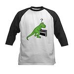 Dino Piano Kids Baseball Jersey