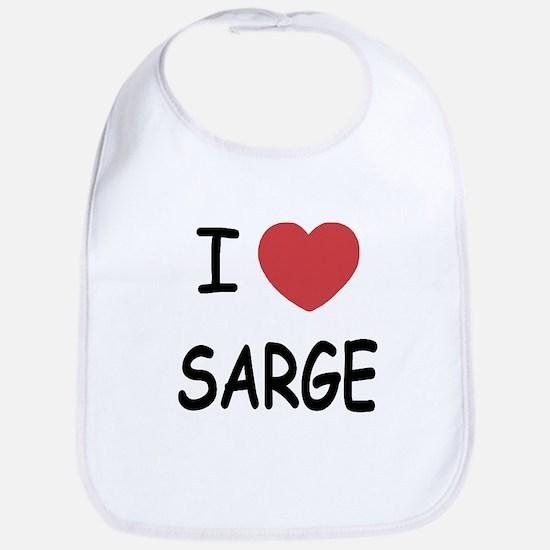 I heart sarge Bib