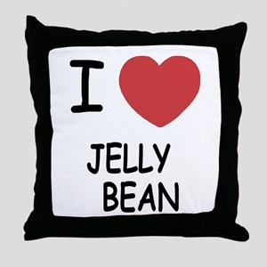 I heart jellybean Throw Pillow