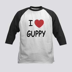 I heart guppy Kids Baseball Jersey