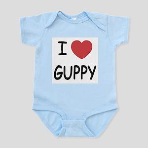 I heart guppy Infant Bodysuit
