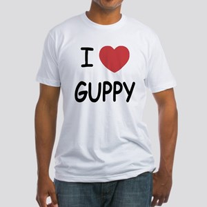 I heart guppy Fitted T-Shirt