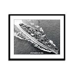 USS MARSH Framed Panel Print