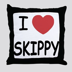 I heart skippy Throw Pillow