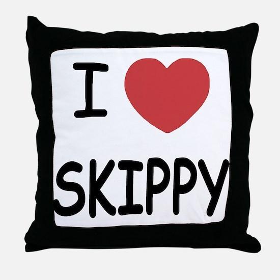 I heart skippy Throw Pillow