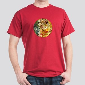 Fun Patchwork Quilt Dark T-Shirt