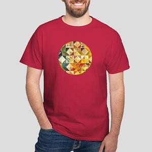 Fun Patchwork Quilt Dark T-Shirt