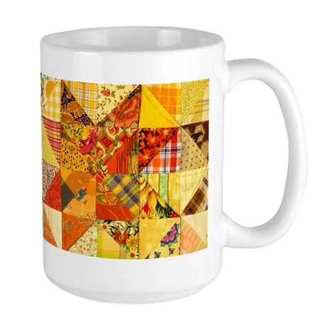 Fun Patchwork Quilt Large Mug