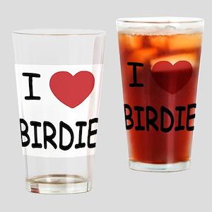 I heart birdie Drinking Glass