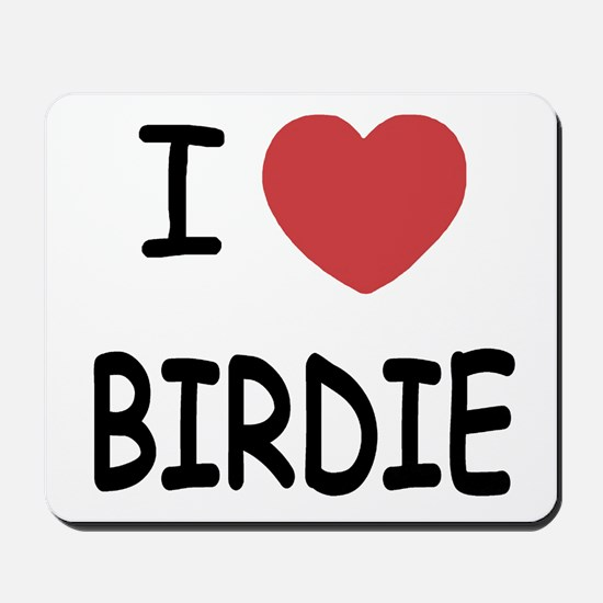 I heart birdie Mousepad