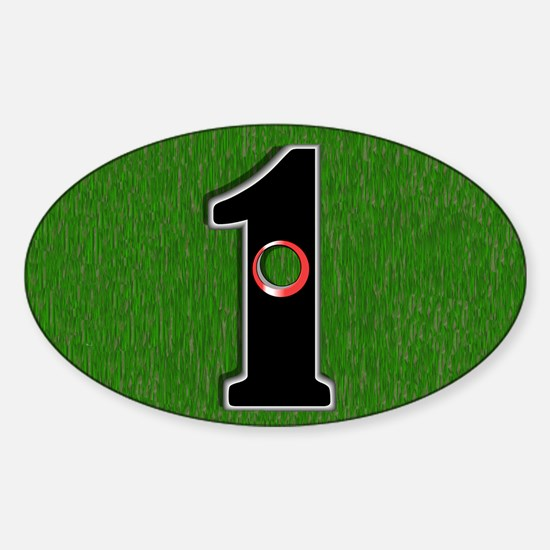 Hole In One! Sticker (Oval)