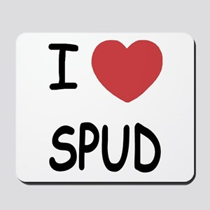 I heart spud Mousepad