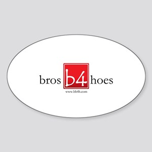 Bros Before Hoes Logo Sticker (Oval)