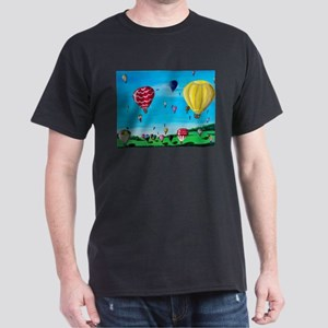 Hot Air Balloons Dark T-Shirt