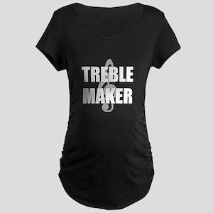 Treble Maker Maternity Dark T-Shirt