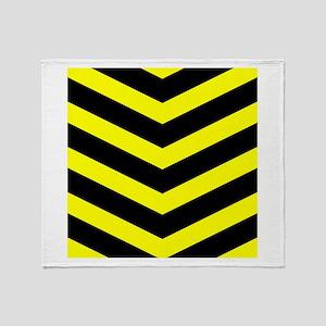 Black/Yellow Chevron Throw Blanket