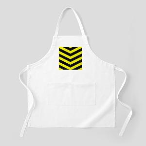 Black/Yellow Chevron Apron