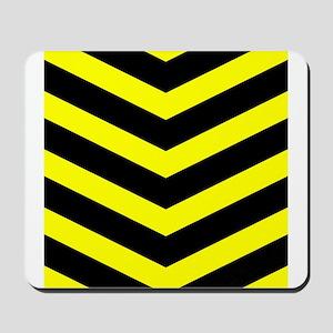 Black/Yellow Chevron Mousepad