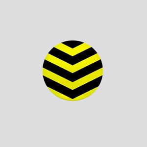 Black/Yellow Chevron Mini Button