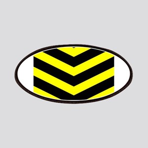 Black/Yellow Chevron Patches